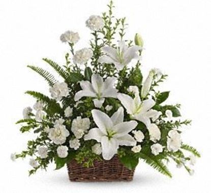 "Picture of F-060 ""Peaceful White Lilies """